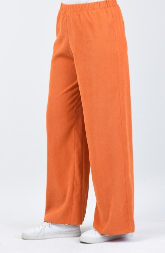 Fitilli Bol Paça Pantolon 0267-03 Oranj