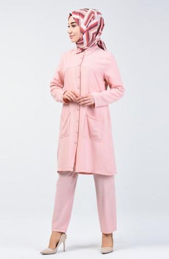 Tunik Pantolon İkili Takım 1306-02 Pudra
