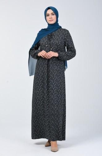 A Plissee Viskose Kleid  4535-01 Petroleum 4535-01
