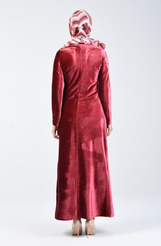 Kadife Elbise 5120-05 Gül Kurusu 5120-05