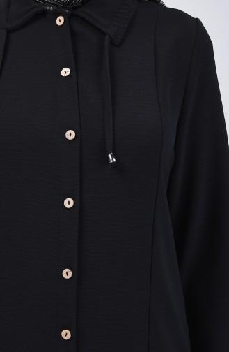 Düğmeli Tunik 1404-03 Siyah