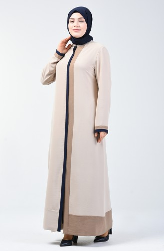 Beige Abaya 0129-06