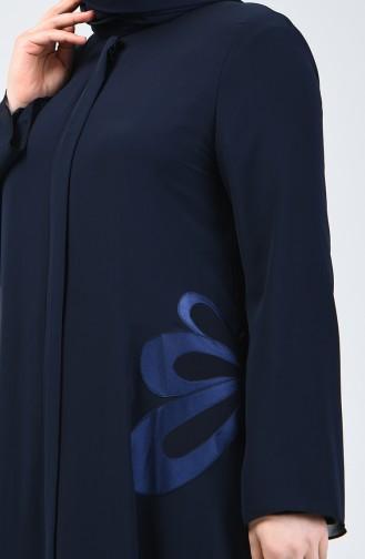 Grösse Grosse Abendkleid Abaya 8049-02 Dunkelblau 8049-02