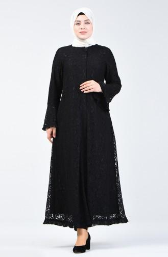 Black Abaya 9555-02