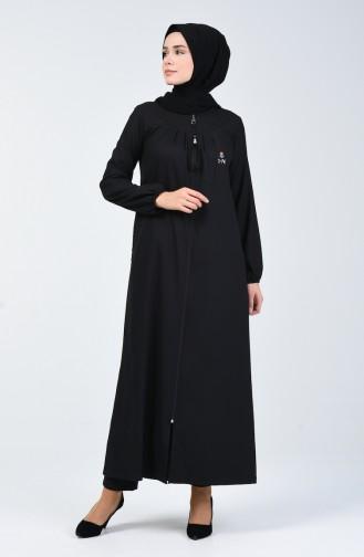 عباءة بسحاب أسود 99251-01