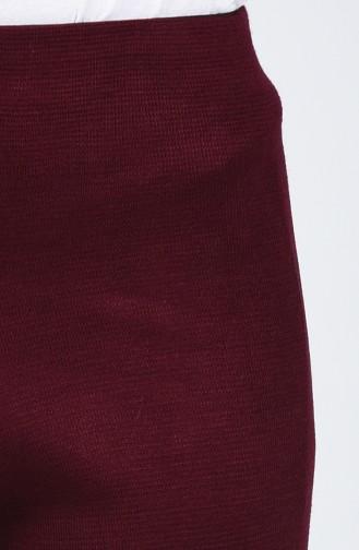 Triko Bol Paça Pantolon 0520-06 Koyu Bordo