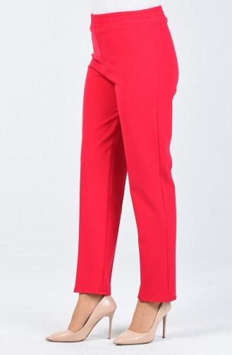 Hose mit elastische Taille 3153PNT-01 Dunkel Fuchsia 3153PNT-01