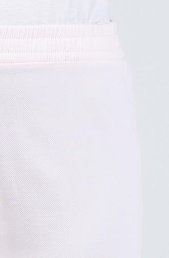 Beli Lastikli Düz Paça Pantolon 3164PNT-01 Pudra