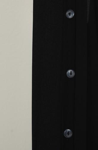 Üç Bant Bir Şal M020-01 Siyah