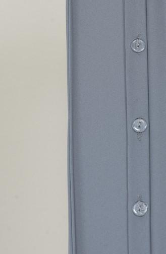 Üç Bant Bir Şal M020-03 Gri