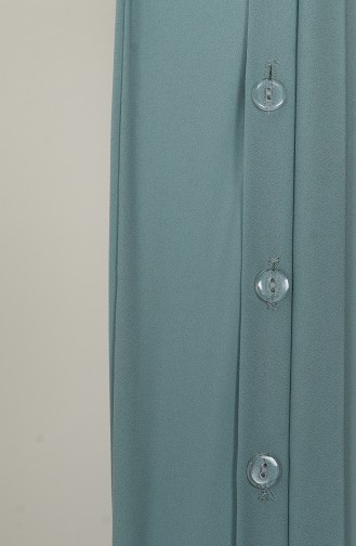 Üç Bant Bir Şal M020-11 Su Yeşili