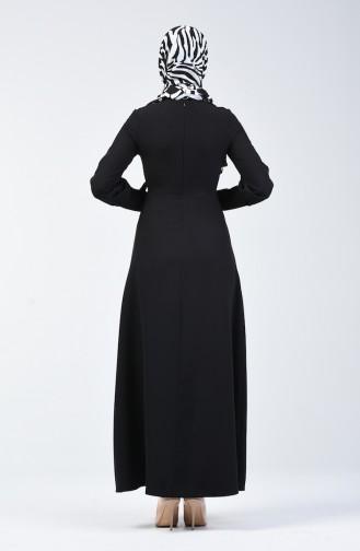 Black İslamitische Jurk 2712-02