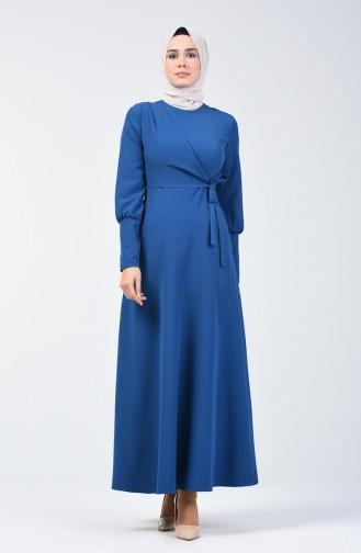 Seitlich gebundenes Kleid 2712-07 Indigo 2712-07