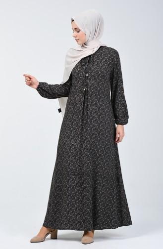 A Plissee Viskose Kleid  4535-04 Braun 4535-04
