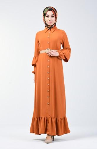 Light Tobacco Brown İslamitische Jurk 5667-04