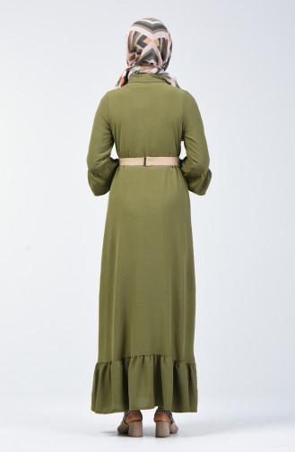 Robe Hijab Vert khaki clair 5667-05