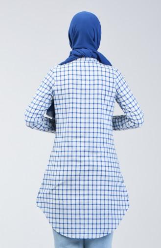 Kareli Tunik 6443-03 Mavi