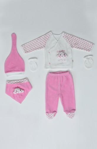 Kız Bebek 5Li Takım F0848 Pembe