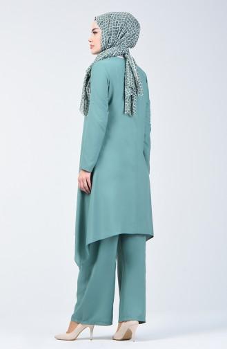 Tunik Pantolon İkili Takım 11000-03 Çağla Yeşili