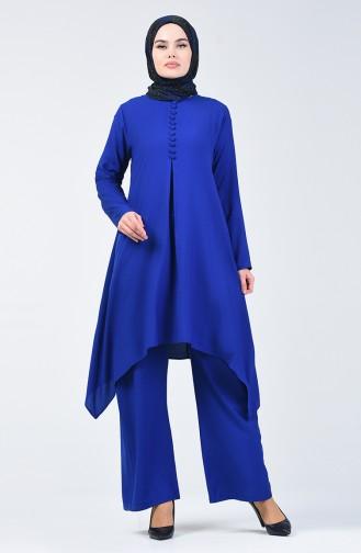 Tunik Pantolon İkili Takım 11000-05 Saks