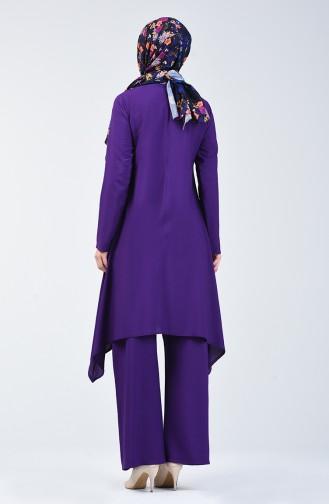Tunika-Hose Zweier Anzug 11000-07 Violett 11000-07