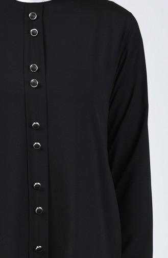 Ensemble Deux Pieces Tunique Pantalon  11001-01 Noir 11001-01