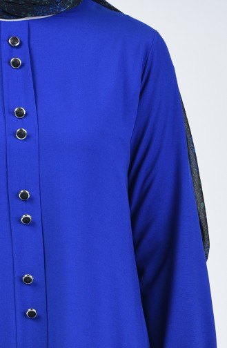 Ensemble Deux Pieces Tunique Pantalon  11001-03 Bleu Roi 11001-03