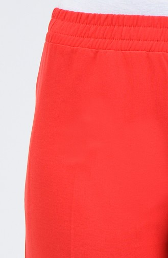 Beli Lastikli Pantolon 3146PNT-01 Kırmızı