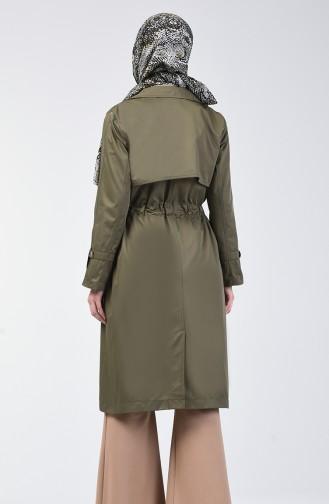 Trench Coat 1408-01 Khaki 1408-01