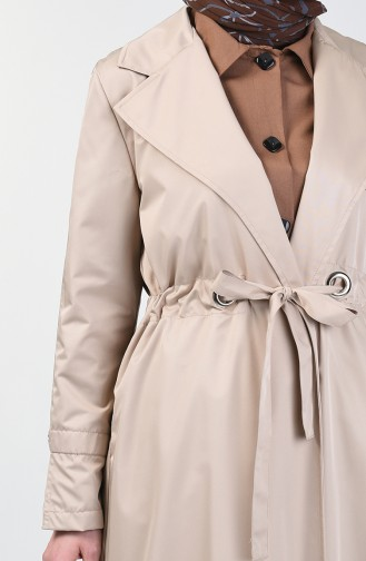 Double Breasted Trench Coat 1408-03 Stone 1408-03
