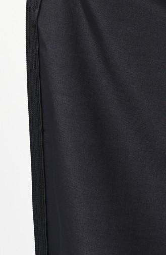 Trench Coat İmperméable à Capuche 6847-01 Noir Bordeaux 6847-01