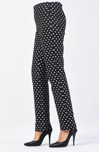 Jacquard Pants 7261-03 Black 7261-03