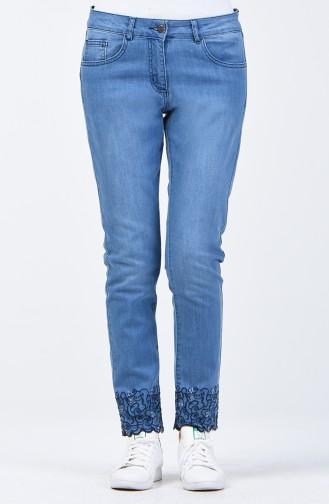 Jeans Blue Pants 8076-01