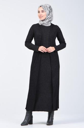 Hırka Elbise İkili Takım 5122-01 Siyah