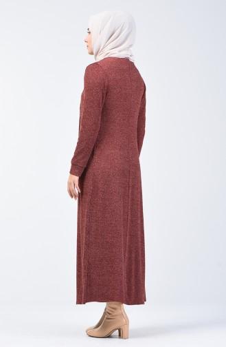 Hırka Elbise İkili Takım 5122-02 Kiremit 5122-02