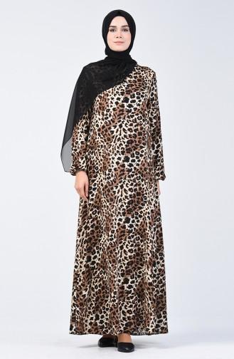 Leopard Patterned Dress Brown 0072-01