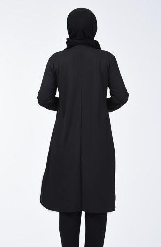 Büyük Beden Payetli Tunik 5983A-06 Siyah