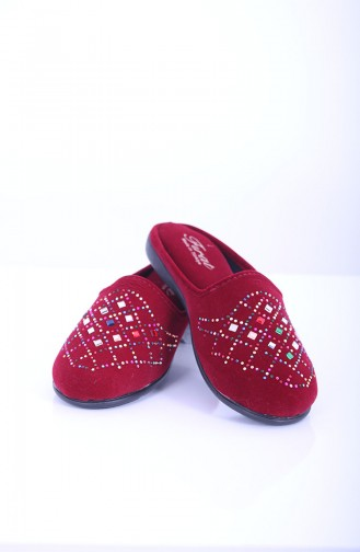 Claret red Woman home slippers 18-03