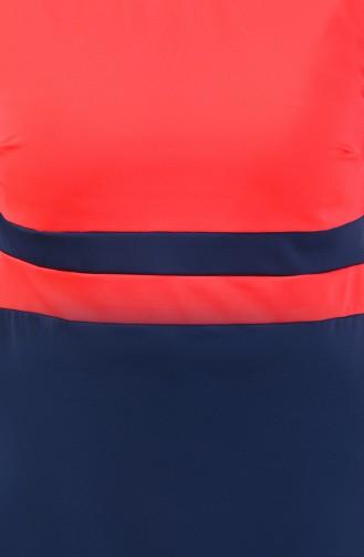 Kurzarm Pool Badebekleidung 0118-11 Neon Pink Rauchgrau 0118-11