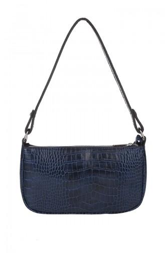 Women´s Cross Shoulder Bag Navy Blue 382-011