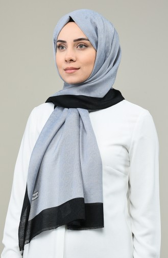 Elmina Luxury Monogram Shawl 180-108 Light Grey 180-108