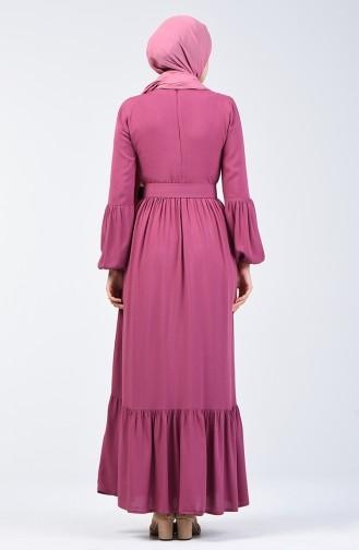 Beige-Rose Hijap Kleider 4534-07