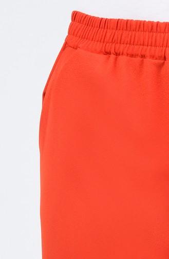 Cepli Düz Paça Pantolon 1176PNT-04 Kırmızı