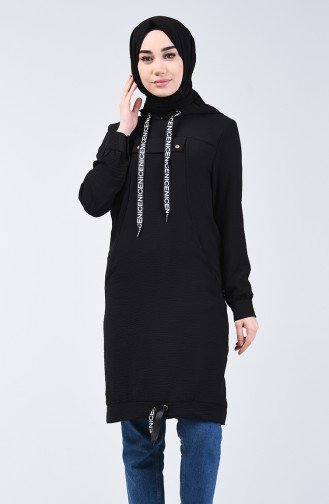 Hooded Sports Tunic 1405-01 Black 1405-01