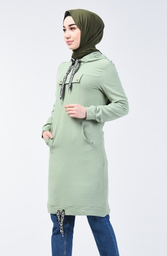 Hooded Sports Tunic 1405-04 Almond Green 1405-04