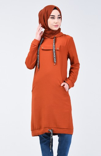 Hooded Sports Tunic 1405-05 Brick Red 1405-05