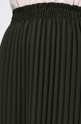 Pleated Skirt 0006-03 Khaki Green 0006-03