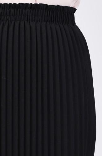 Piliseli Etek 0006-08 Siyah