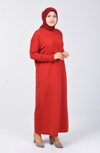 Yarasa Kol Elbise 7998-02 Bordo
