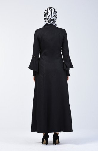 Hijab Mantel 1272-01 Schwarz 1272-01